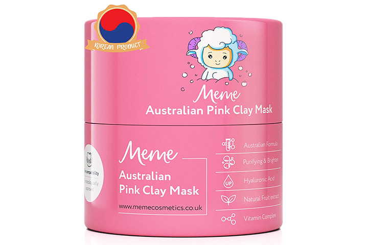 MeMe Australian Pink Clay Face Mask