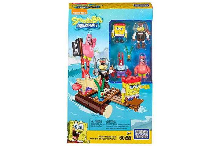 Mega BloksSpongebobSquarepants Pirate Figure Pack Building Playset