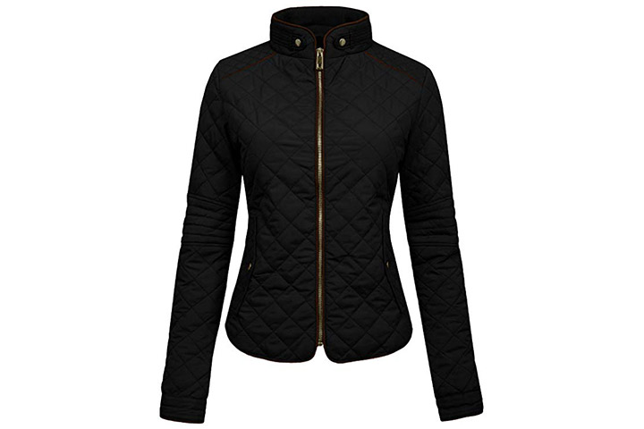 NE PEOPLE Women's Lightweight Quilted Zip Jacket