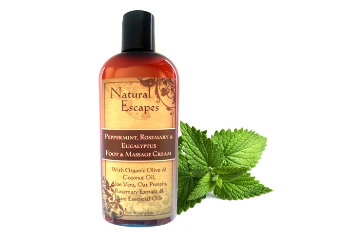 Natural Escapes Peppermint, Rosemary & Eucalyptus Massage & Foot Cream