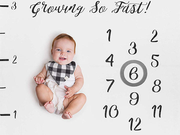 Neutral Personalized Photography Background Blankets