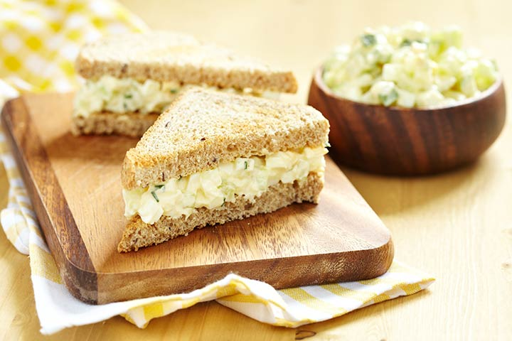 Pineapple and cream cheese sandwiches