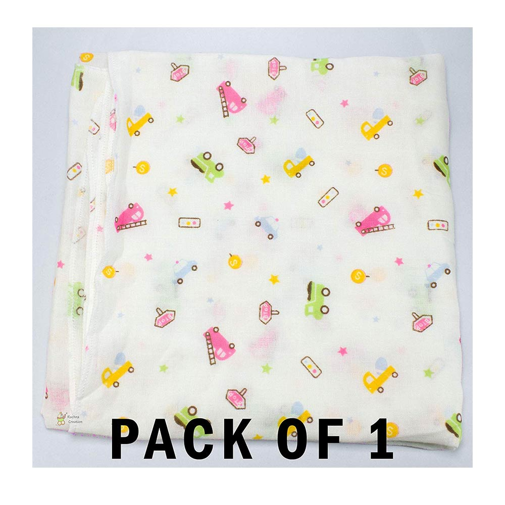 Rachna's  Muslin Cotton Baby Swaddle Wrap Blanket