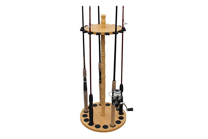 Rush Creek Creations fishing rod storage rack