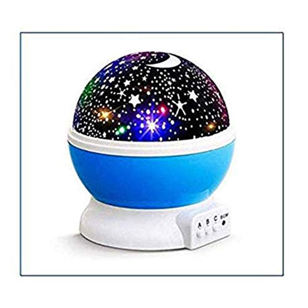 SIBY Plastic 360 Rotating LED Night Lamp Projector