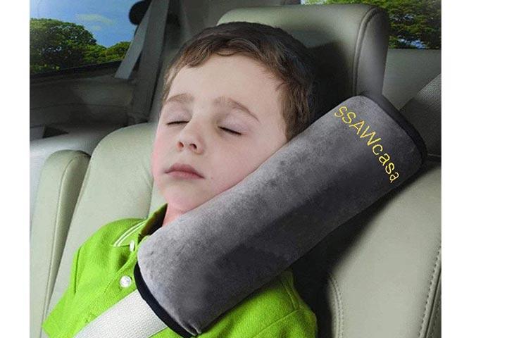 SSAWcasa Car Seat Belt CoverShoulder Pads (Gray)