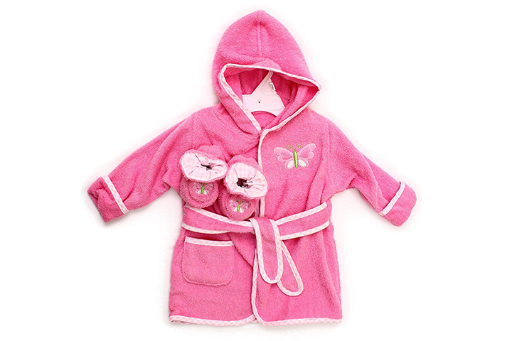 Spasilk Cotton Hooded Terry Bathrobe