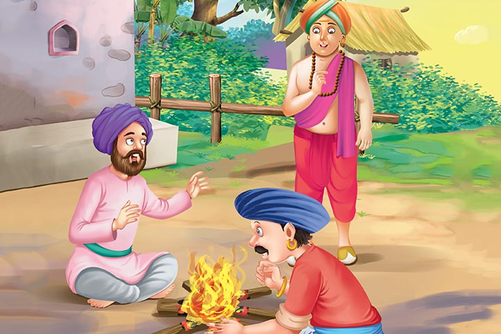Tenali Rama Story Bragging Soldiers Around The Campfire1