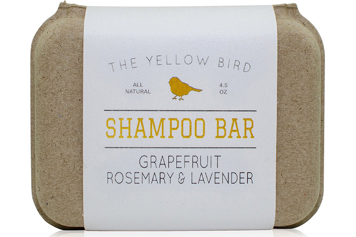 The Yellow Bird Grapefruit, Rosemary, and Lavender Shampoo Bar