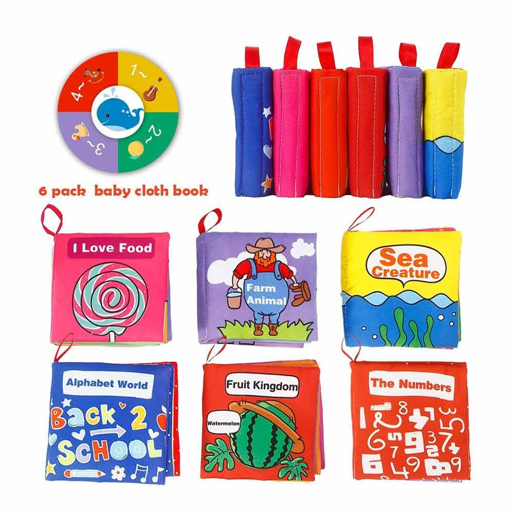 ThinkMax Crinkle Baby Soft Cloth Book