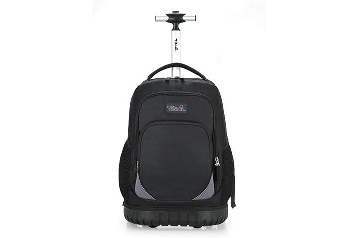 Tilami Rolling Trolley Laptop Backpack