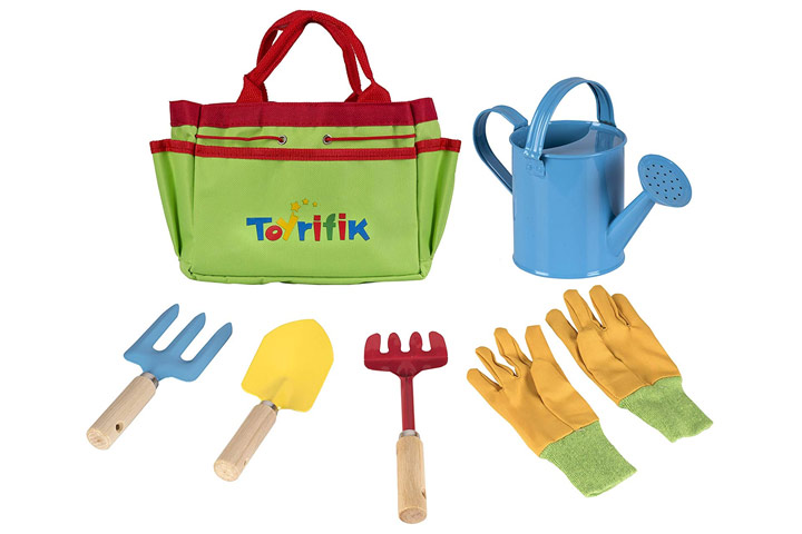 Toyrifik Little Gardener Tool Set With Bag For Kids