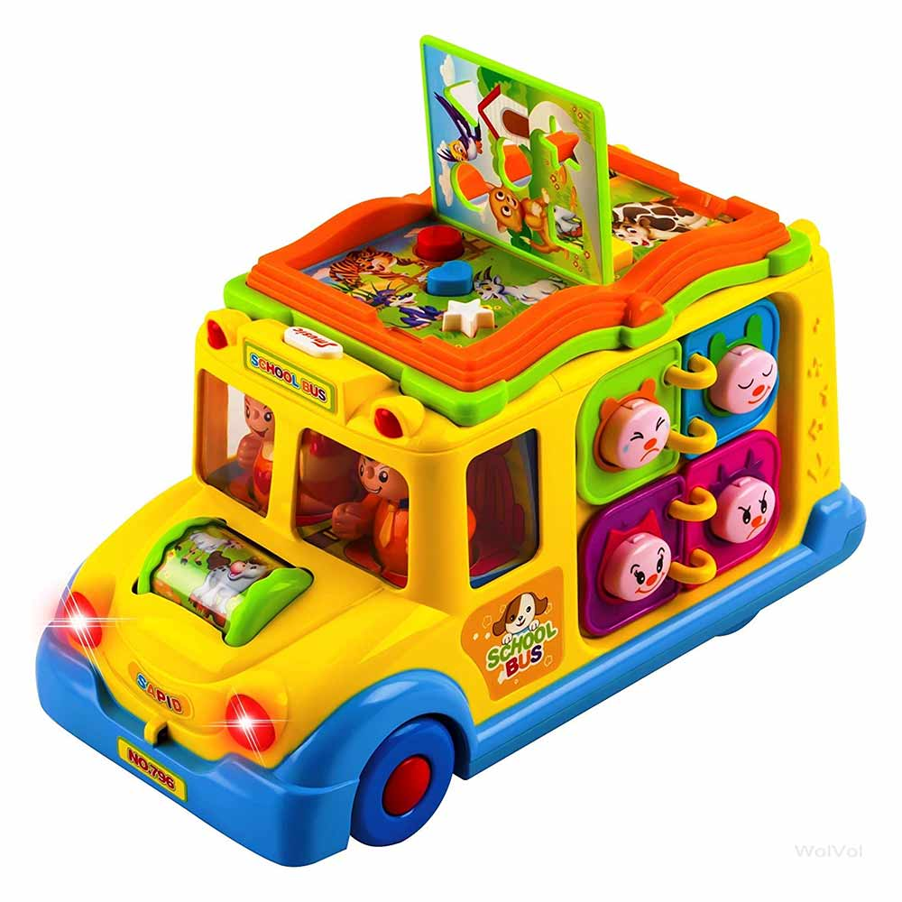Toyshine School Bus Activity with Music, Sounds, and Lights