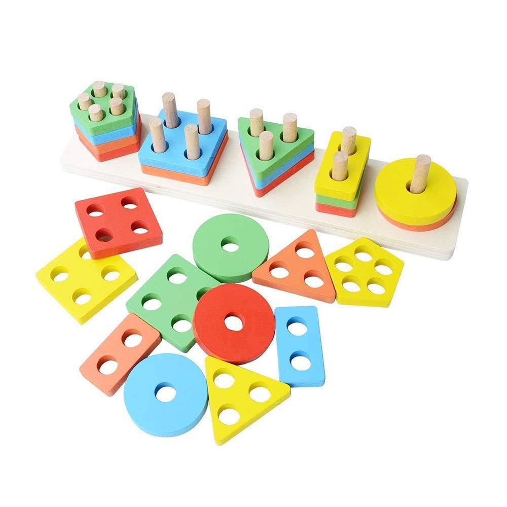 Toyshine Wooden Angle Geometric Blocks