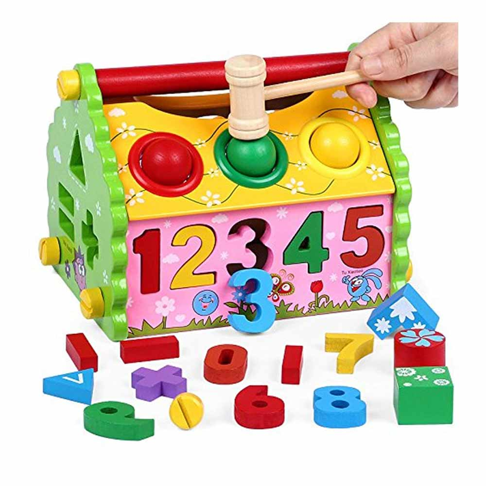 Toyshine Wooden Interactive and Learning House