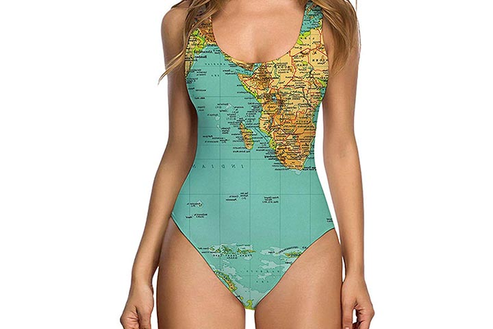 Uideazone Women Sexy High Cut One Piece Swimsuit Funny