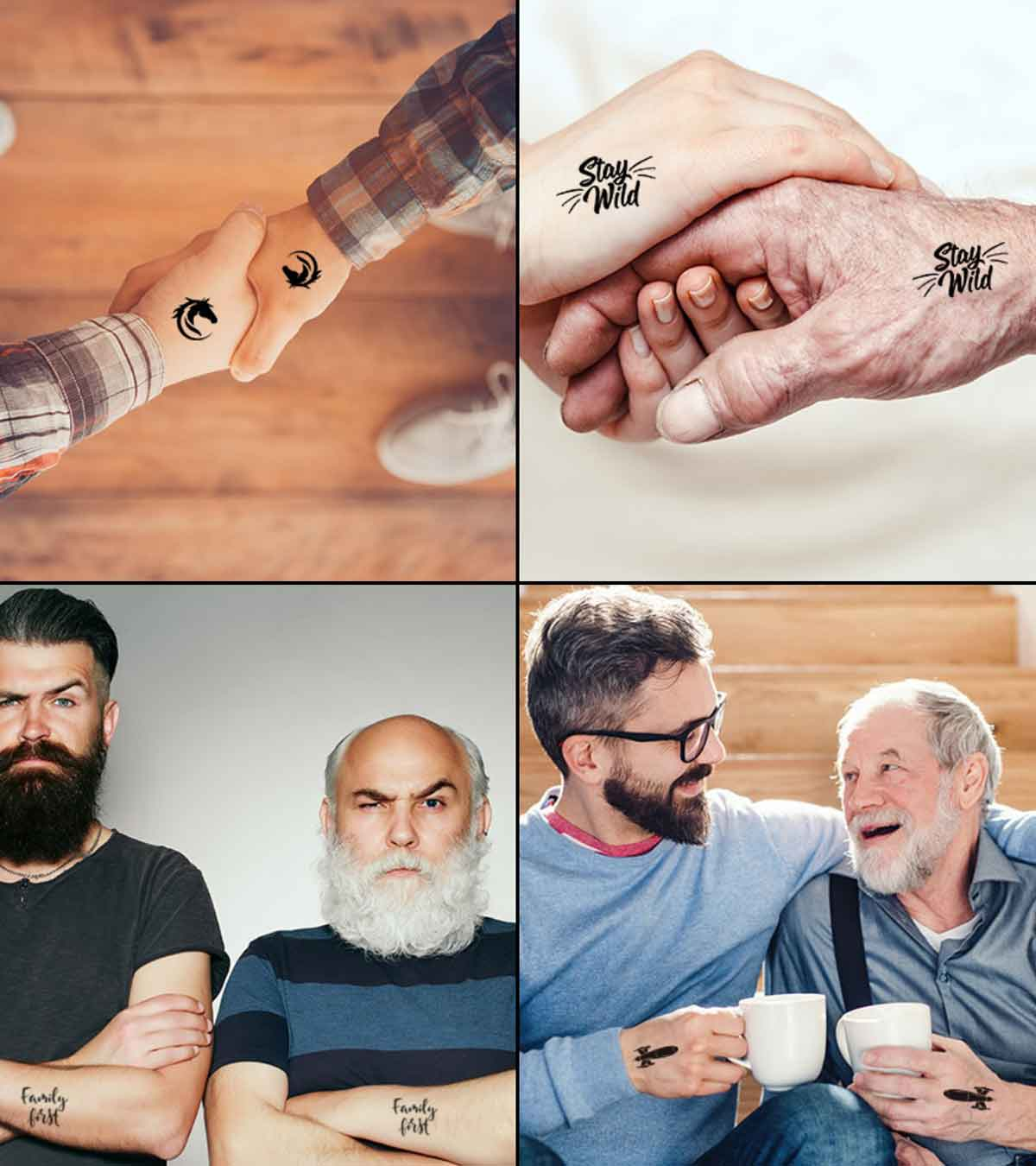20 Matching Tattoo Ideas For Father And Son
