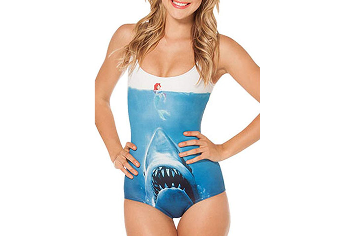 V17 Women's One-Piece Swimsuit Bat