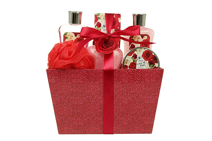Valentine's Day Bath and Body Gift Basket