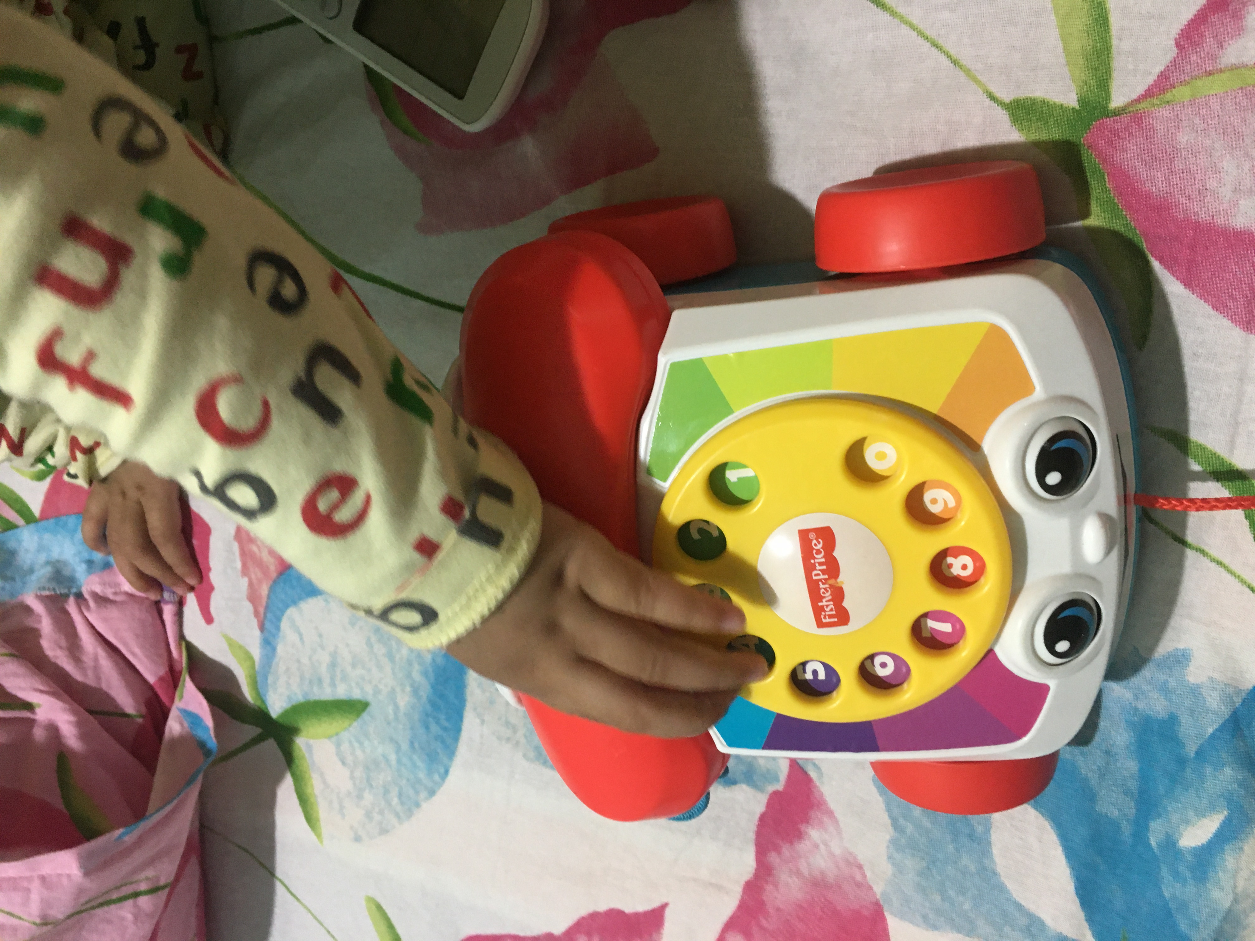 Fisher Price Pull Along Chatter Toy Telephone-Ring ring play time-By mubashira