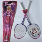 Barbie Badminton Racket With Cover-Barbie racket-By dharanirajesh16