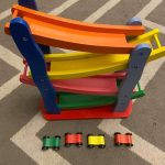 Emob Wooden Car Track Set-Fun ride with wooden car track set-By reshmashenoy