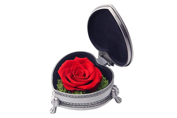hey June preserved rose flower with gift box