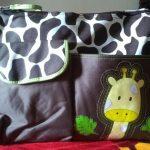 Fab-N-Funky Baby Diaper Bag With Bear Patch-Cute diaper bag-By kalyanilkesavan