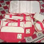 Diaper Bag Set Dot Print Brown-Useful Diaper Bag Set-By kalyanilkesavan