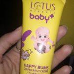 Lotus Herbals baby+ Happy Bums Diaper Rash Crème-Soothing rash cream-By aden