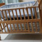 Babyhug Kelly Wooden Cot With Detachable Bassinet & Mosquito Net-Safest cot-By sumi