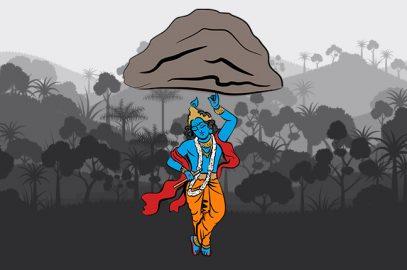 श्री कृष्ण और गोवर्धन पर्वत की कहानी | Shri Krishna Govardhan Parvat