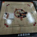 Webby Wooden Carrom Board Brown Beige-My carrom board-By anita_jadhav_dhamne