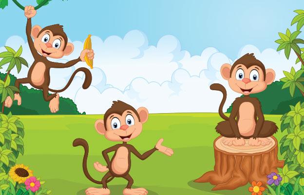 बंदर और लकड़ी का खूंटा The Monkey and The Wedge Story In Hindi