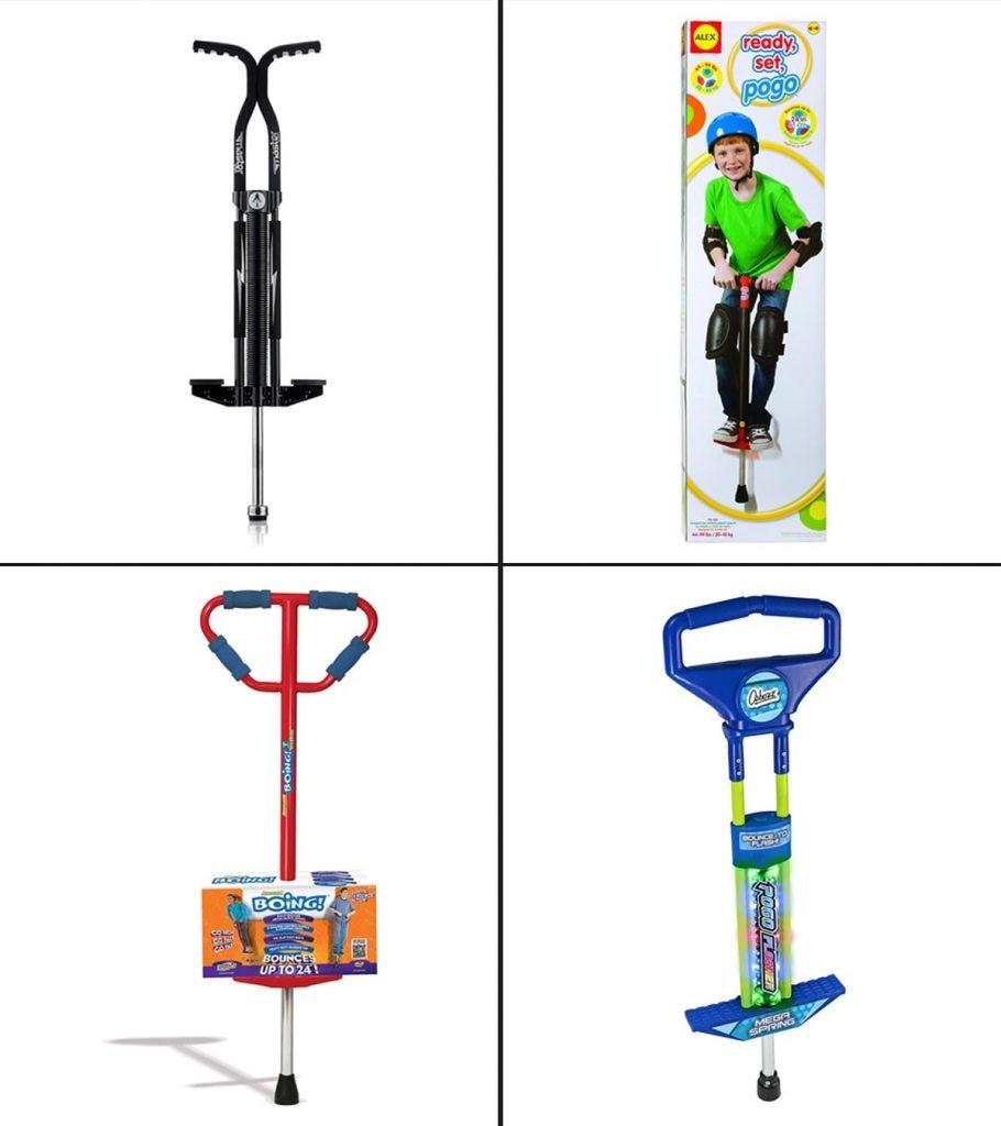 Pogo Stick Children Kids Outdoor Jump Bounce Toy Balance Fitness Fire Fun 2021