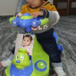 Babyhug Froggy Gyro Swing Car With Easy Steering Wheel-Baby hug froggy gyro swing car with easy steering wheel-By sonisejwal