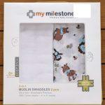 My Milestones 3 in 1 Muslin Swaddle Wrapper Pack-Swaddle-By amarjeet