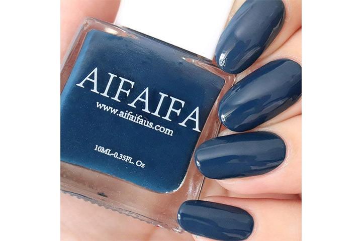 AIFAIFA Blue Nail Polish, Long-Lasting Winter Nail Polish