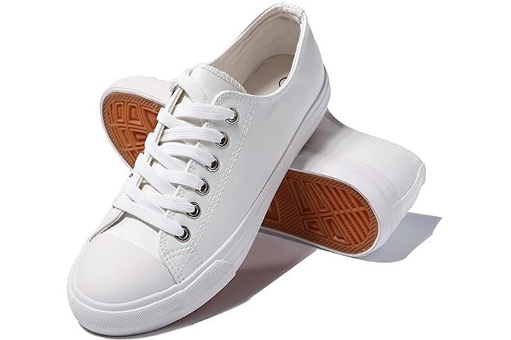 AOMAIS Womens Fashion PU Leather Sneakers