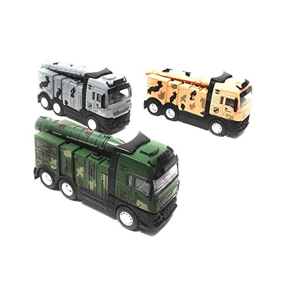 Akrobo Friction Powered Missile Launcher Fighter Army Truck