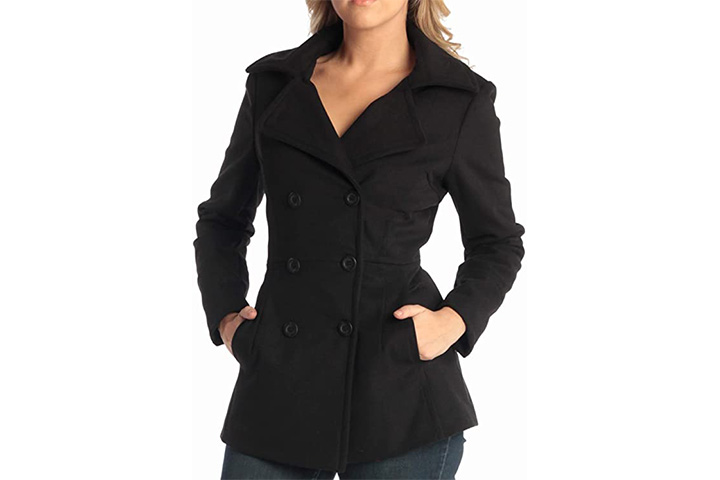 Alpine Swiss Emma Women's Pea Coat