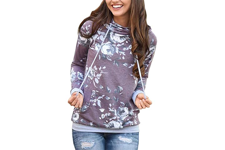 Angashion Floral Printed Sweatshirt