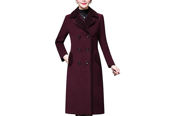 Aprsfn Women's Pea Coat