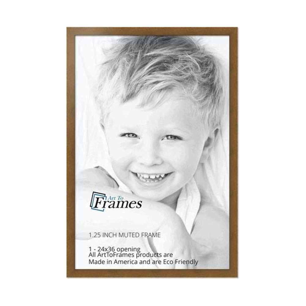 ArtToFrames Muted Gold Glow Picture Frame