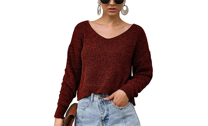 BTFBM Women V-Neck Sweater