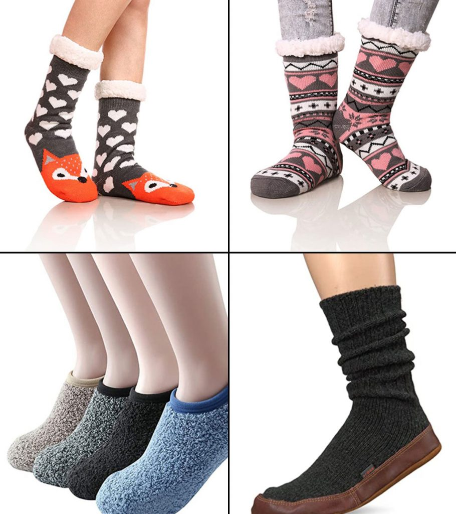 Thick Fluffy Non-slip Women Warm Soft Fur Winter Bed Home-Socks Slippers Warmer