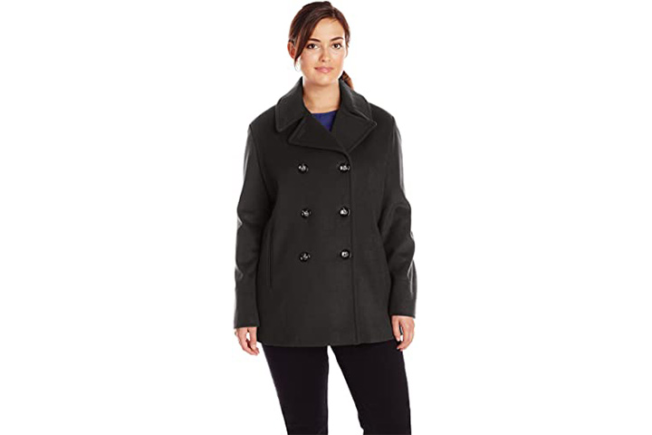 Calvin Klein Women's Plus Sized Pea Coat