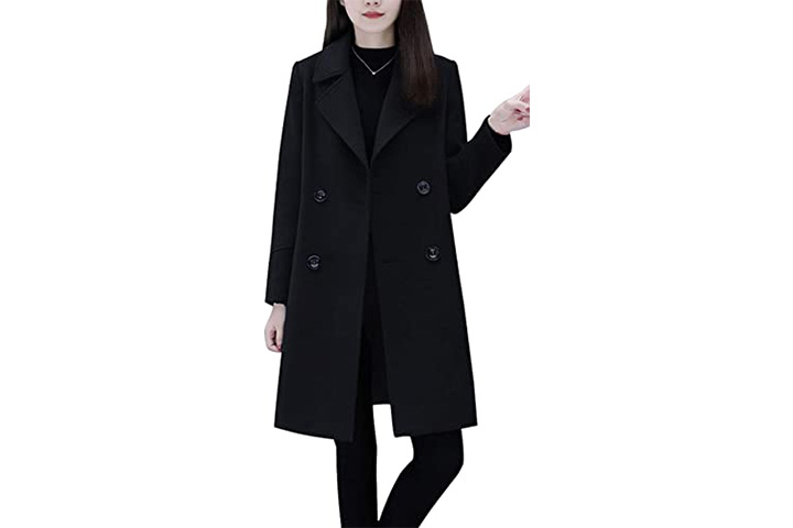 Chouyatao Women's Basic Essential Pea Coat