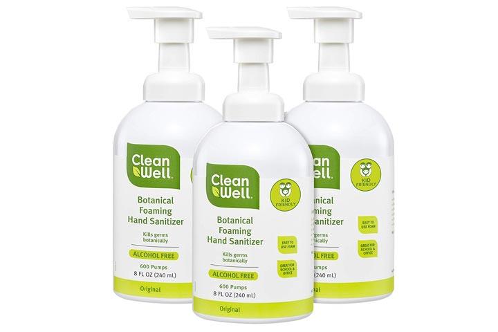 CleanWell Botanical Foaming Hand Sanitizer