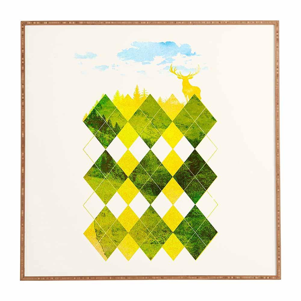 Deny Designs Robert Farkas, Elegant Forest, Framed Wall Art